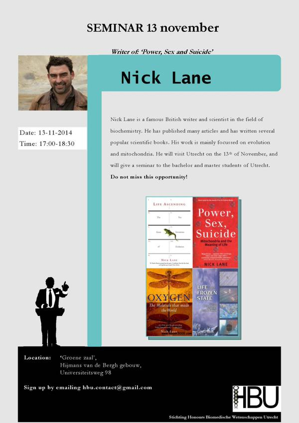 Seminar Dr. Nick Lane